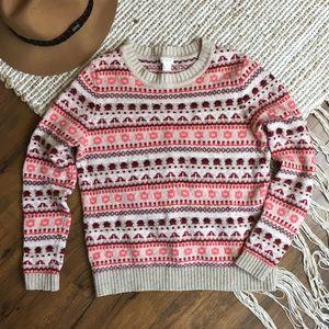 🍁J Crew patterned wool sweater 🍁